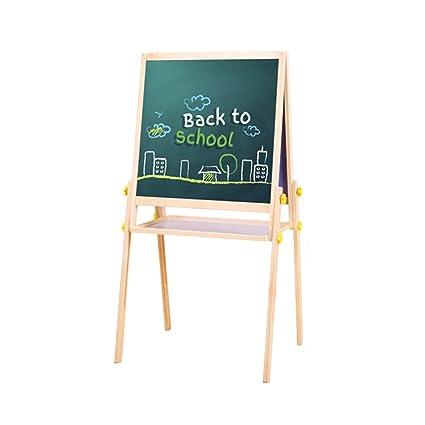LXLA-Caballete madera para niños Doble cara ajustable Bloc ...