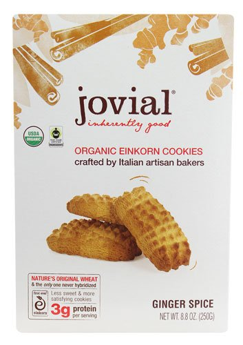 Jovial Organic Einkorn Cookies Ginger Spice -- 8.8 oz - 2 pc