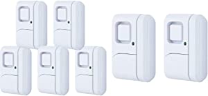 GE Personal Security Window/Door Alarm, 5-Pack, 45987 & 45115 Personal Security Window/Door, 2-Pack, DIY Protection, Burglar Alert, Wireless Chime/Alarm, Easy Installation, White, 2 Count