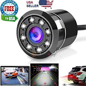 170° Car Rear View Backup Camera Reverse 8 LED Night Vision Waterproof NEW