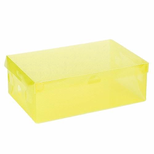 Sannysis Plegable Plástico Cajas de zapatos Organizador Almacena miento Apilable Tidy-Box Claro zapatos de plástico caja de almacenamiento apilables Cajas ...
