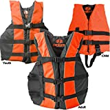 type 1 childs life jacket - Hardcore Water Sports High Visibility Coast Guard Approved Life Jackets for the Whole Family (Child Orange)