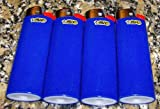 Lot of 4 Bic Blue Classic Full Size Lighters New