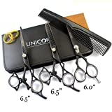100% NEW Thumb Swivel Professional Razor Edge Series - Barber Hair Cutting and Thinning Scissors/Shears Sets 6.0'' Professional Hair Scissors For Men/Women