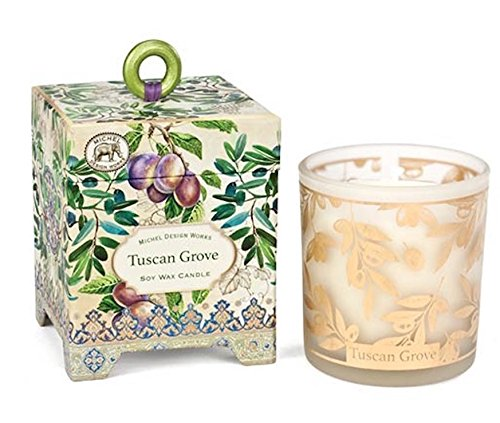 Michel Design Works Gift Boxed Soy Wax Candle, 6.5-Ounce, Tuscan Grove 6.5 oz