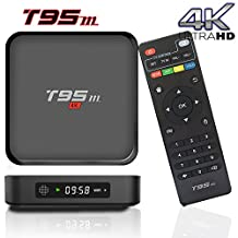 BPSMedia® (2017 Upgraded Version) T95M 4K Amlogic S905 Set Top TV Box Android 5.1 Lollipop OS XBMC Quad Core Google Streaming Media Player 1GB - 8GB with WiFi HDMI DLNA