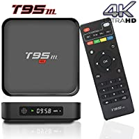 BPSMedia (2017 Upgraded Version) T95M 4K Amlogic S905 Set Top TV Box Android 5.1 Lollipop OS XBMC Quad Core Google Streaming Media Player 1GB - 8GB with WiFi HDMI DLNA