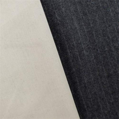 (Ivory/Grey Wool Blend Double Cloth Coating, Fabric by The Yard)