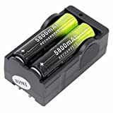 Yuege 2-Pack 18x65 5800mAh Rechargeable 3.7V