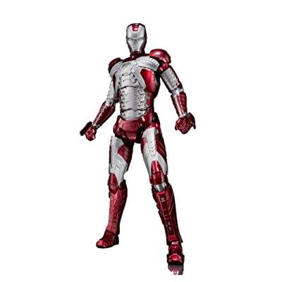 "Bandai Tamashii Nations S.H. Figuarts Iron Man MK. V & Hall of Armor Set ""Iron Man 3"" Action Figure: Toys & Games"