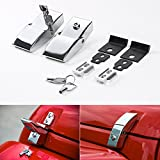 Automotive : RT-TCZ tainless Steel Hood Latches Hood Lock Catch Latches Kit for Jeep Wrangler JK 2007-2017 (Bright)