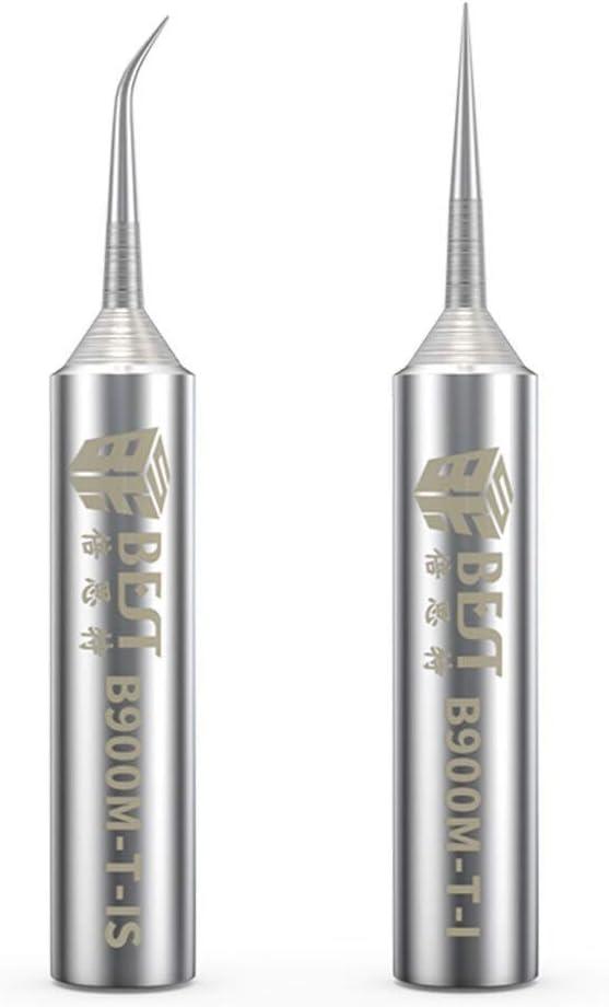 Punte for saldatura del ferro B900M-T-I B900M-T-/è privo di ossigeno 0,2 millimetri di rame Fly Consigli linea di saldatura della saldatura del ferro Sting for Hakko 936//937 Stazione di saldatura BGA