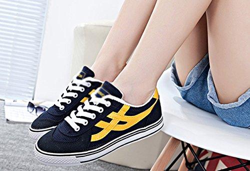 selvatici uomo da scarpe scarpe tendenza da bianche giallo di da Scarpe da ballo di da uomo Blu scarpe scarpe tela XFF uomo e uomo CwZqPv