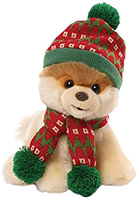 Gund Boo Holiday Hat and Scarf 9 IN Plush