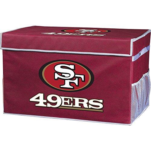 Franklin Sports San Francisco 49ERS Collapsible Foot Locker Storage Bins - Team Logo Home Organizer - 26