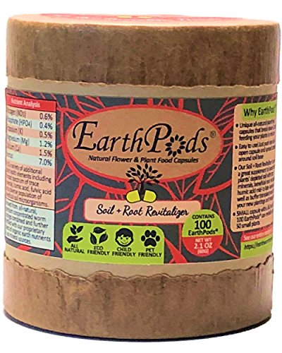 (EarthPods Best Root Starter Fertilizer - Easy Organic Plant Food Spikes - 100 Capsules - Jump Start New Plantings, Seedling, Trees, Cuttings & Clones (Help Root Growth & Transplant Shock, Ecofriendly))