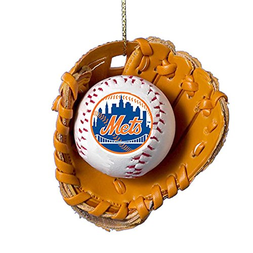 Price comparison product image Kurt Adler New York Mets Baseball in Glove Ornament