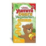 yummi bears organics - Yummi Bears Vegetarian Calcium + Vitamin D3 Gummy Vitamin Supplement for Kids, 90 Gummy Bears