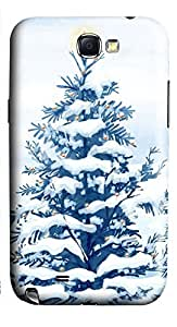 Samsung Note 2 Case Christmas Snow Trees 3D Custom Samsung Note 2 Case Cover