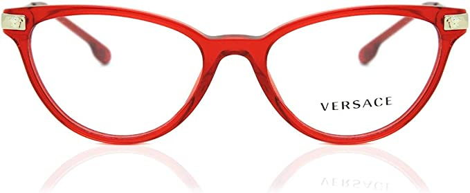 Amazon Com Versace Ve3261 Eyeglass Frames 5280 52 Transparent Red Ve3261 5280 52 Clothing
