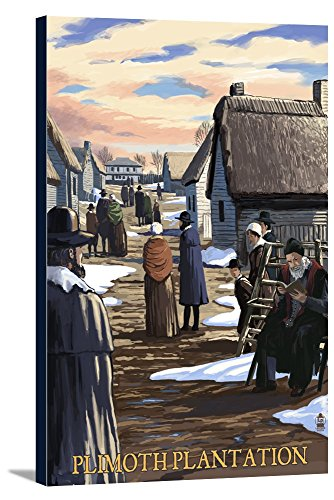 Plimoth Plantation, Massachusetts Scene Gallery Wrapped Stretched Canvas