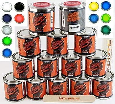 Custom Creative 12 Color Lettering Enamel-Pinstripe Urethane Paint and Harderner + Reducer with Bonus by SprayGunner