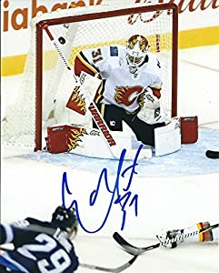 Autographed Eddie Lack 8x10 Calgary Flames Photo