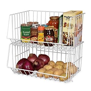 Amazon.com: Home Rv Kitchen Bathroom Stackable 1 Basket Rack ...