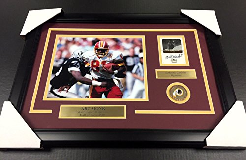 ART MONK SIGNED AUTOGRAPHED AUTO CARD FRAMED 8X10 PHOTO WASHINGTON REDSKINS Art Monk Washington Redskins