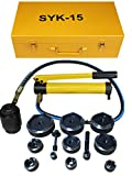 15ton 1/2'' to 4 1/2'' Hydraulic Knockout Punch Kit Hand Pump 11 Dies Tool Hydraulic Opener