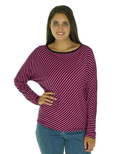Michael Kors Women's Round Neck Striped Shirt Ultra Pink PL