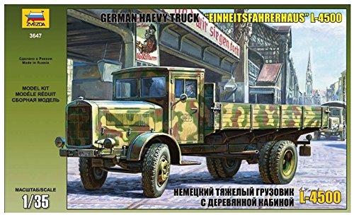 3647 Zvezda 1:35 Dt.Trans.LKW L4500S Einheitsk., WWII, Plastik - Modellbau, Baus