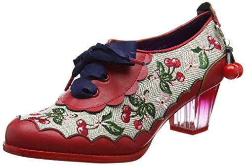 Cream B Poetic Stringate Brouge Scarpe Cherry Red Rosso by Choice Licence Irregular Fizz Donna qqx6aT