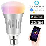 Expower B22 Smart WiFi Light Bulb, Dimmable 7W RGB Led Bulb Works with Amazon Alexa Echo Remote Control by Smartphone IOS & Android, 60 W Equivale