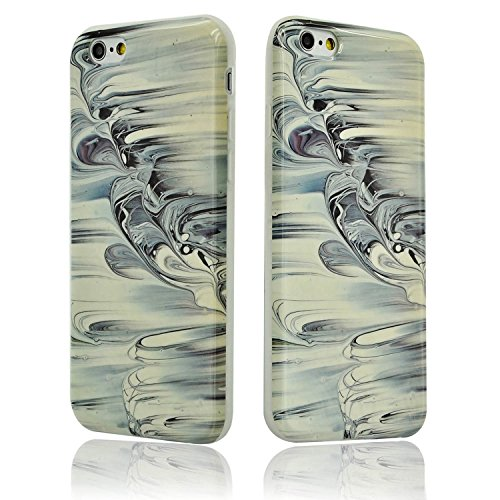 iPhone 6 Plus Funda Mármol Carcasa Sunroyal® TPU Gel Silicona Cascara Flexible Suave Bumper Case Cover Cubierta de Protección Anti-Arañazos Choque Resistente Caja del Teléfono para iPhone 6 Plus 6s Pl A-29