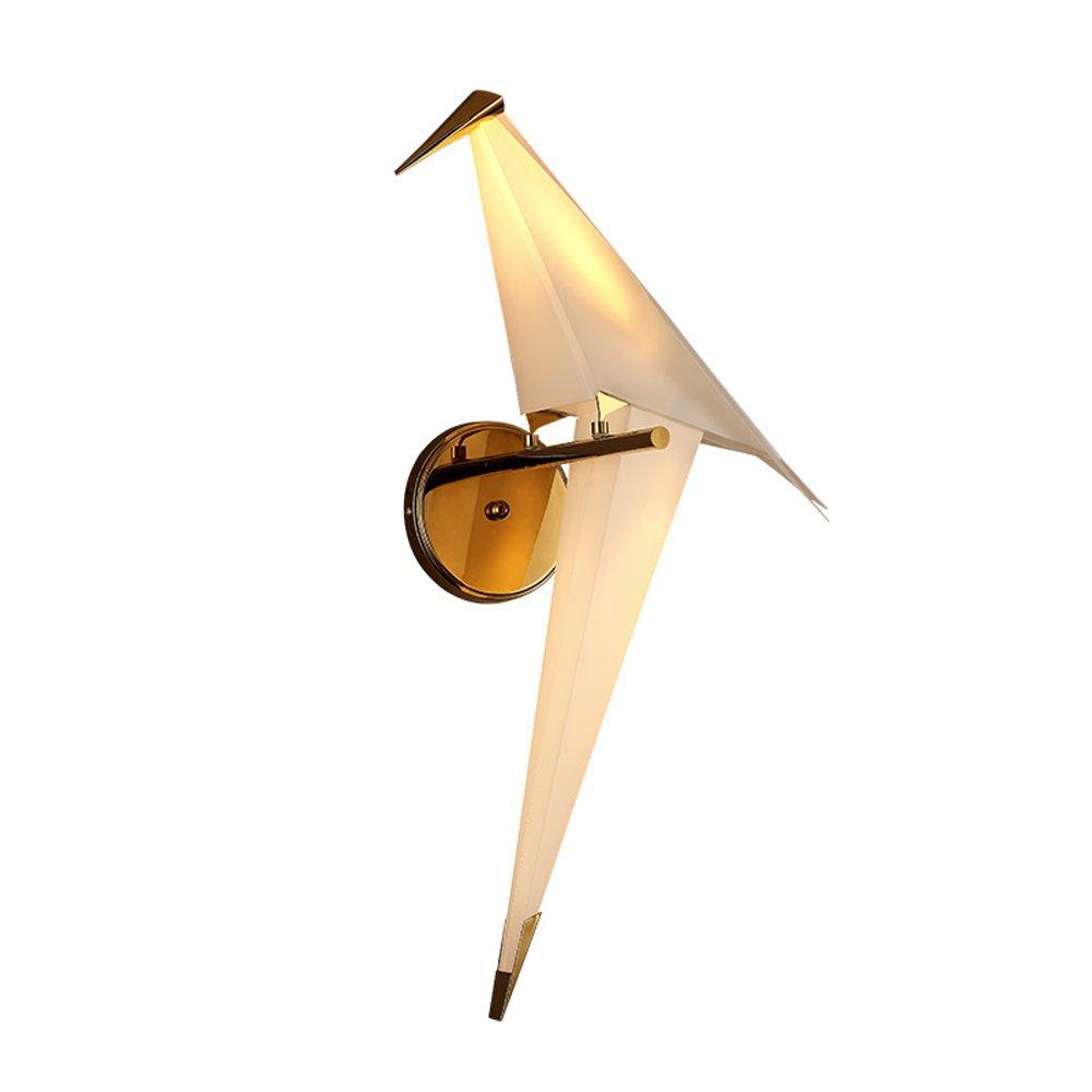 JU FU -Lichtbefestigung Eisen Wandleuchte, hohe Qualität Nordic Postmodern Geometrische 3D Origami Vogel PP Material Wandleuchte Kreative Kinderzimmer Wohnzimmer Schlafzimmer LED Dekorative Wandleuchte 28 * 65 CM @ JU FU SHOP