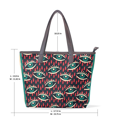 ac7898dce2 Coosun Womens Eyes Patterns Borsa Grande A Tracolla Per Borsa Shopping In  Pelle ...