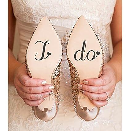 cf5b3dda0a4c5 Amazon.com: BATTOO I Do Wedding Shoe Decal Bridal Shoe Decal, I Do ...