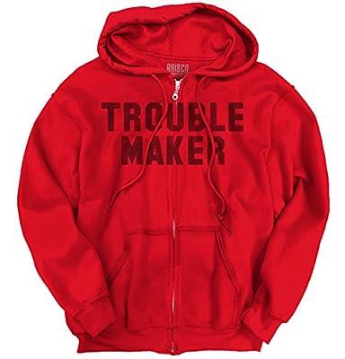 Trouble MakerFashion Rihanna Jay Z Hip Hop Skate Slogan Zip Hoodie