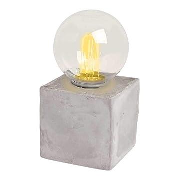 Deko-Leuchte LED Retro Glühlampe auf Zementsockel Tischleuchte Designer Lampe