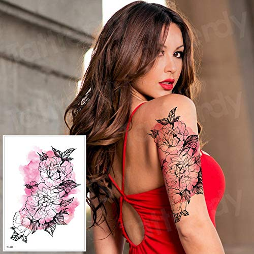 3pcsLotus Tatuaje Pegatina Tatuaje Manga Mujer niña patrón Tatuaje ...