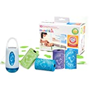 Munchkin Arm and Hammer Disposable Changing Pad - 10 Pack WITH Diaper Bag Dispenser, Colors May Vary PLUS 36 Refill Bags