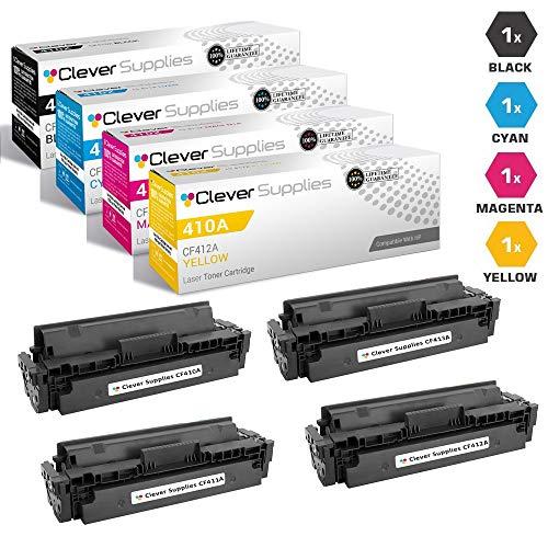 CS Compatible Toner Cartridge Replacement for HP 410A CF410A Black CF411A Cyan CF413A Magenta CF412A Yellow Laserjet Pro M452dn M452dw M452nw M477fdw M477fnw Laserjet Pro M477fdn 4 Color Set ()