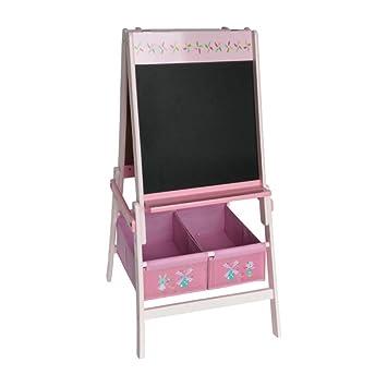 HS de Lighting Stand Pizarra infantil con 2 plástico Cajas Pizarra magnética + Papel de pizarra +, caballete de pizarra Pizarra, Madera, 104 x 55,5 x ...