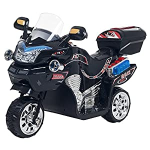 Ride on Toy, 3 Wheel Motorcycle Trike for Kids by Rockin' Rollers – Battery Powered Ride on Toys for Boys and Girls, 2 - 5 Year Old - Black FX