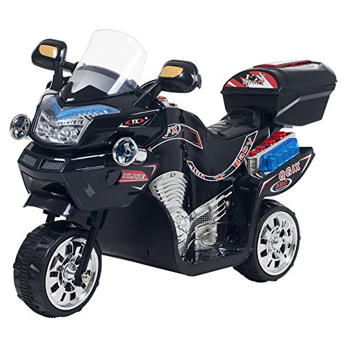 Ride on Toy, 3 Wheel Motorcycle Trike for Kids by Rockin' Rollers  - Battery Powered Ride on Toys for Boys and Girls, 2 - 5 Year Old - Black FX