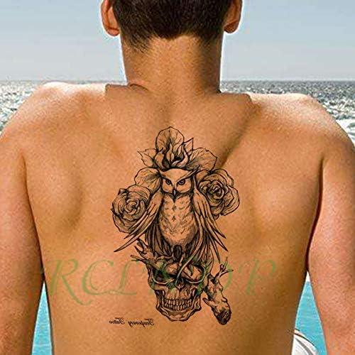 A Prueba de Agua Pegatinas Tatuaje alas de ángel cruzan pájaro ...