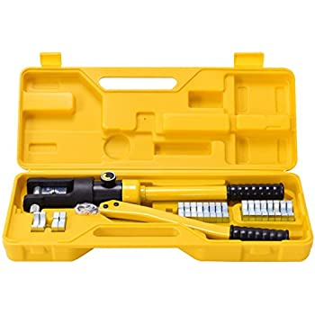 Hydraulic Pump Cable Crimper Hand Tool with Valve for 3/16 Inch ...