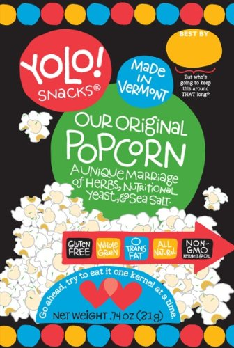 Yolo! Snacks Original Popcorn Case of 28 - .74 oz Bags