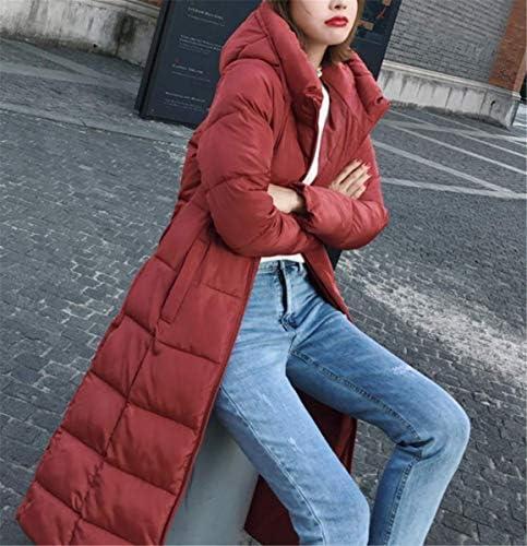 IWFREE Damen Steppmantel f/ür Wintermantel Lang Jacke Winterjacke Jacke Lang Parka mit Fellkapuze Warmen Outwear /Übergangsjacke Knopf